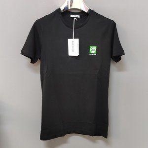 Baleciaga Green Leaf Black Tshirt